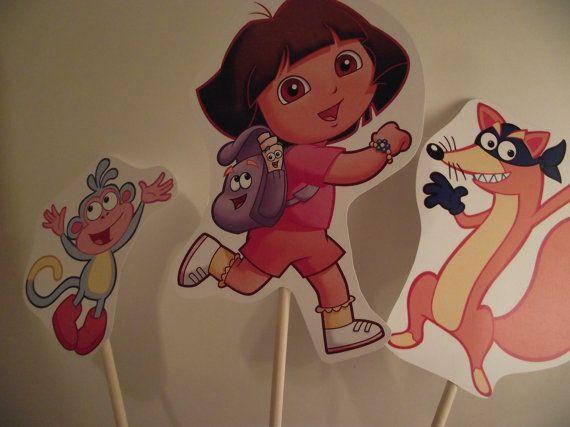 ... Dora on Pinterest  Bottle cap images, Dora cupcakes and Party
