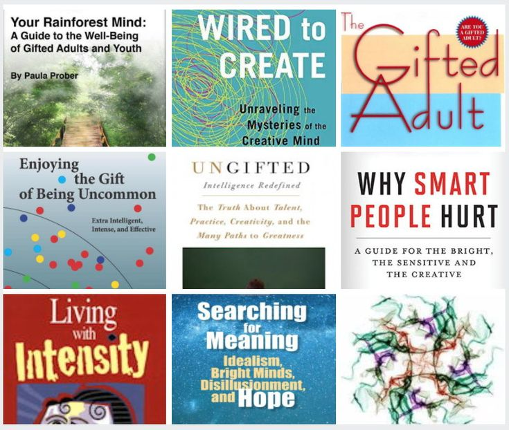 Books to enhance your life as a smart, intense, multitalented, intense, gifted and creative person.