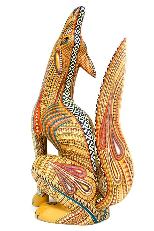 Oaxacan Woodcarvings Jacobo Angeles Coyote