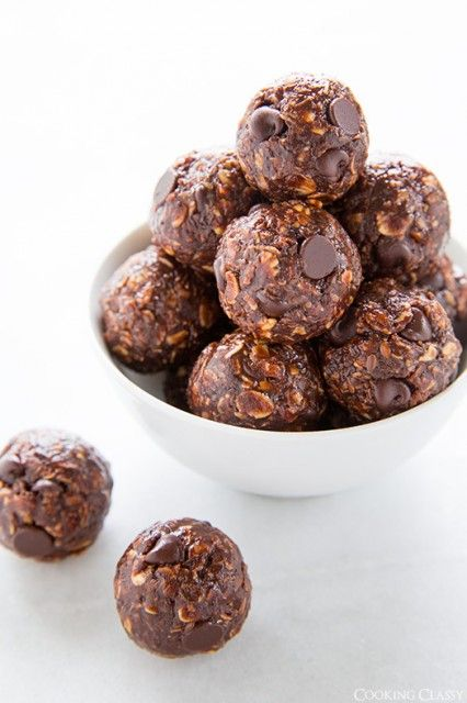9/4/14 No-Bake Chocolate Energy Bites. Omg love these! I make them at least once a week!