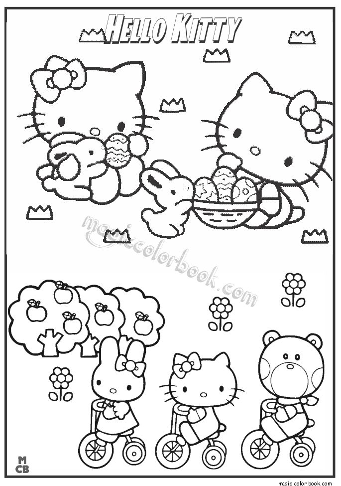 33 best Hello Kitty Coloring pages free online images on