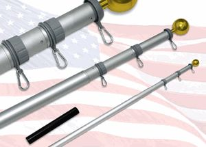 awesome 20Ft Telescoping Flagpole With Sewn Nylon Valley forge Flag