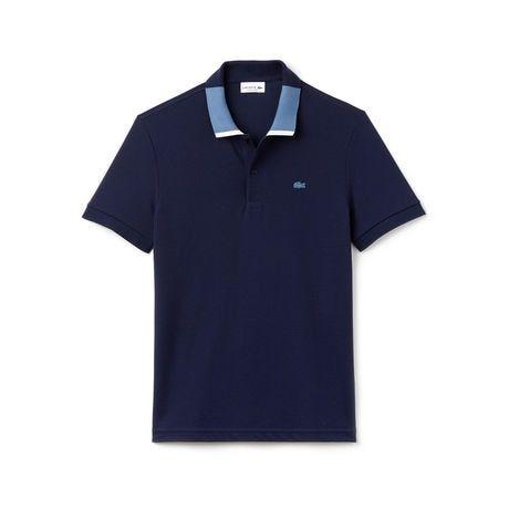 Men's Lacoste Regular Fit Contrast Collar Petit Piqué Polo