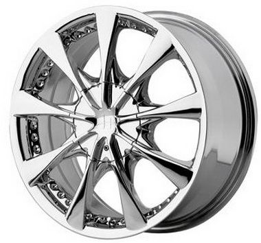 17 inch Helo Wheels HE827 - 17x7.5 Chrome Rims