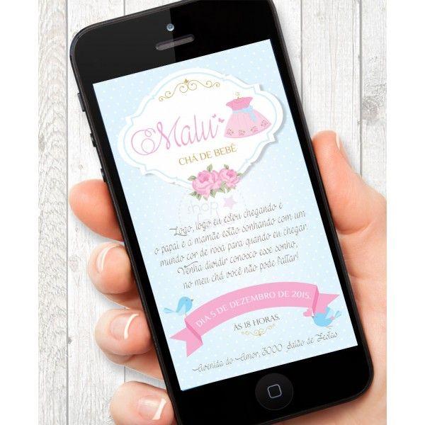 Convite Virtual Coisas de Menina