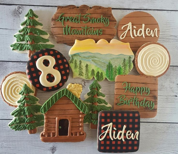 A Smoky Mountain Birthday Cookie Set By Sweet Treats By