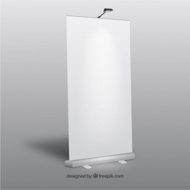 Blank roll up banner Free Vector