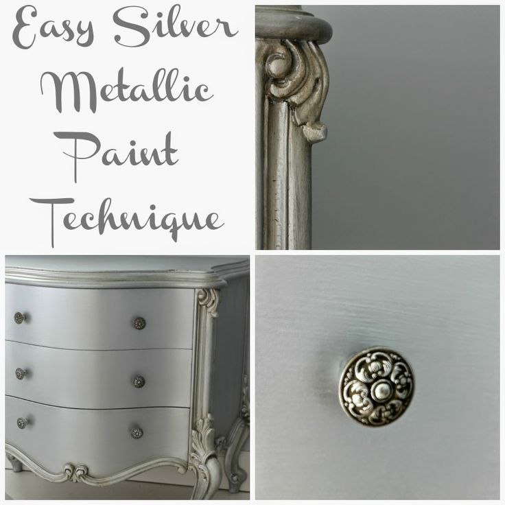 Easy Silver Metallic Paint Technique | Hymns and Verses