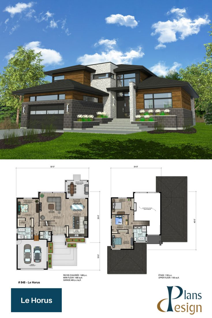 Modern style home plan #twostoreyhomeplans