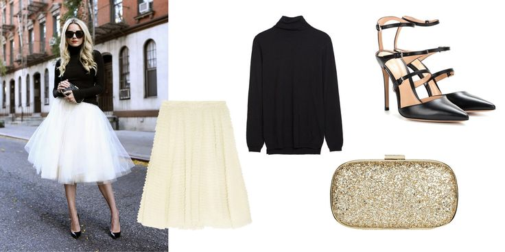 Cute holiday outfit. I NEED A TULLE SKIRT, ASAP!