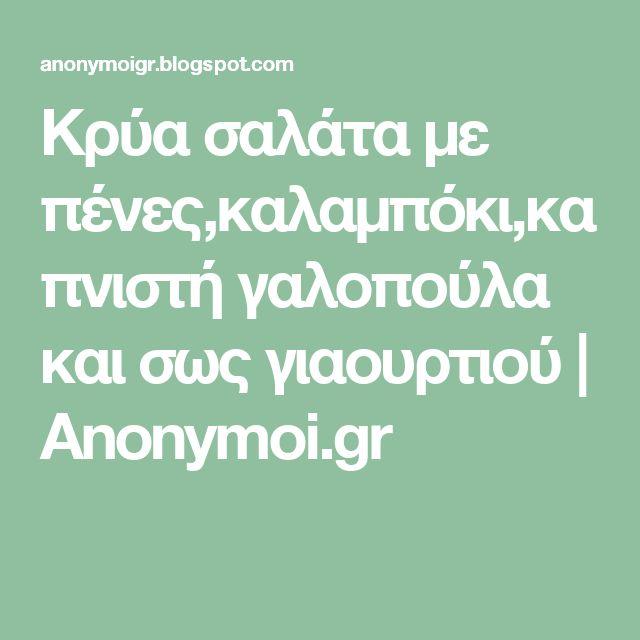 Κρύα σαλάτα με πένες,καλαμπόκι,καπνιστή γαλοπούλα και σως γιαουρτιού           |            Anonymoi.gr