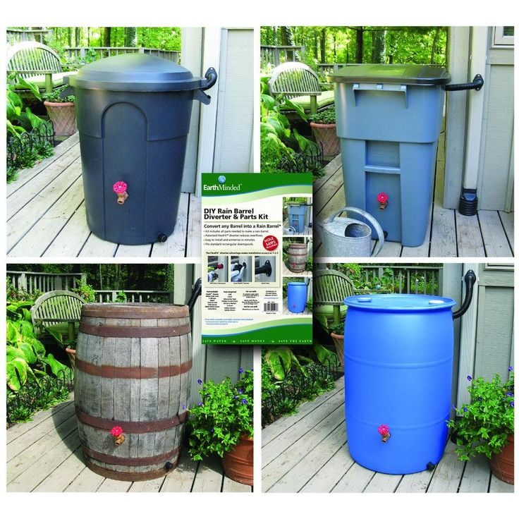 Now anyone can make a rain barrel out of a recycled plastic drum or trash barrel. EarthMinded DIY Rain Barrel kit takes the guesswork out of making your own rain barrel. We include all parts needed to quickly assemble and install a state-of-the-art rain barrel with diverter.