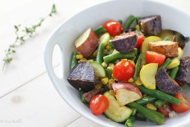 Rainbow Roasted Potato Salad - FoodBabbles.com @Kate ~ FoodBabbles.com