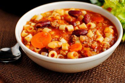 Copycat Olive Garden Pasta e Fagioli Soup by Iowa Girl Eats