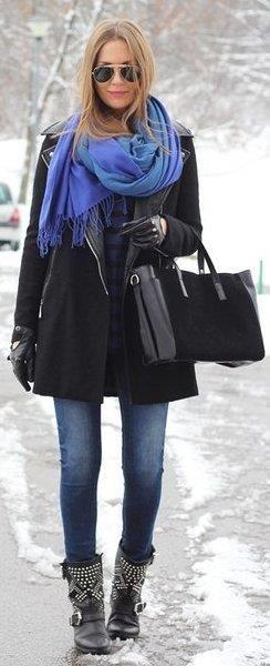 С чем носить пальто чёрное