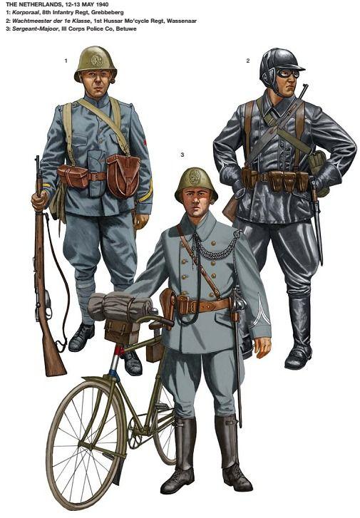 Soldados holandeses en 1940