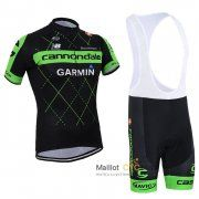 maillot Cyclisme Sangle Cannondale 2015 manche courte kits noir