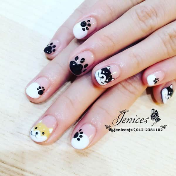 Puppy Nails by @jsnailsacademy; see the full gallery at http://www.nailitmag.com/nail-art-of-the-day/puppy-nails
