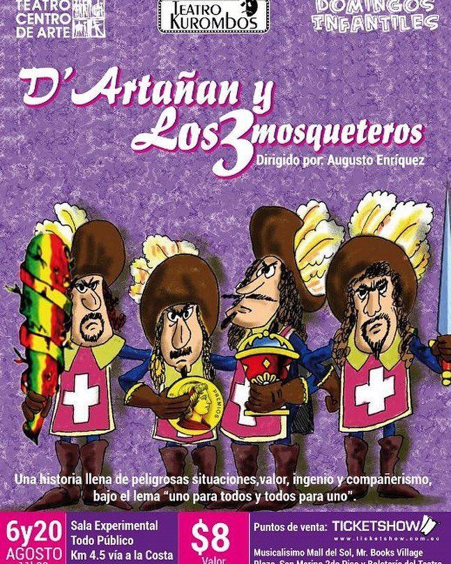 DARTAÑAN Y LOS TRES MOSQUETEROS en el Teatro Centro de Arte.