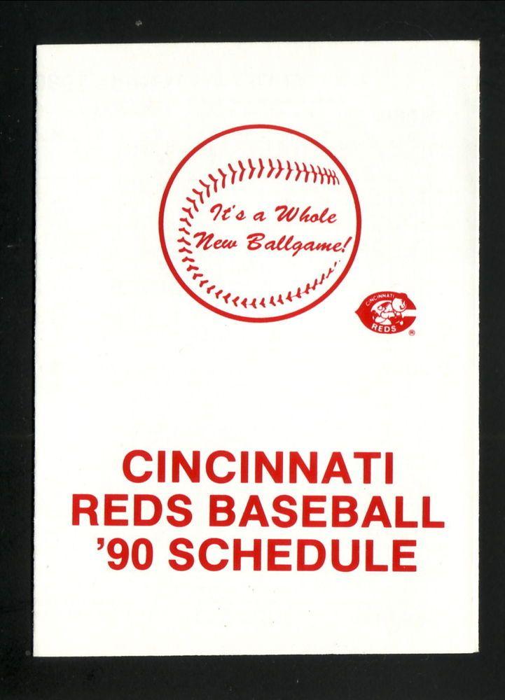 1990 Cincinnati Reds Schedule--Budweiser #PocketSchedule