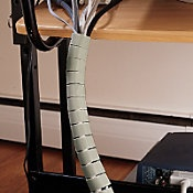 office cable covers. cable management kit - $13 office covers