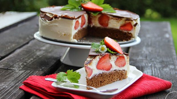 Tvarohový dort Míša s jahodami Foto: