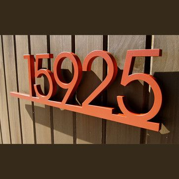 Industrial House Numbers by Moda Industria