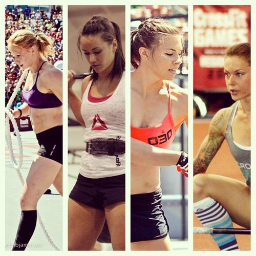 CrossFit Queens: Iceland Annie, Camille, Julie, Christmas. Love these ladies!!