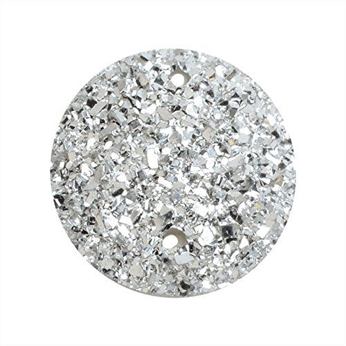 Amazon.com: Dazzle-It! Resin Sugar Stone Druzy, Round 18mm Sew-on Cabochons, 5 Pieces, Silver: Arts, Crafts & Sewing