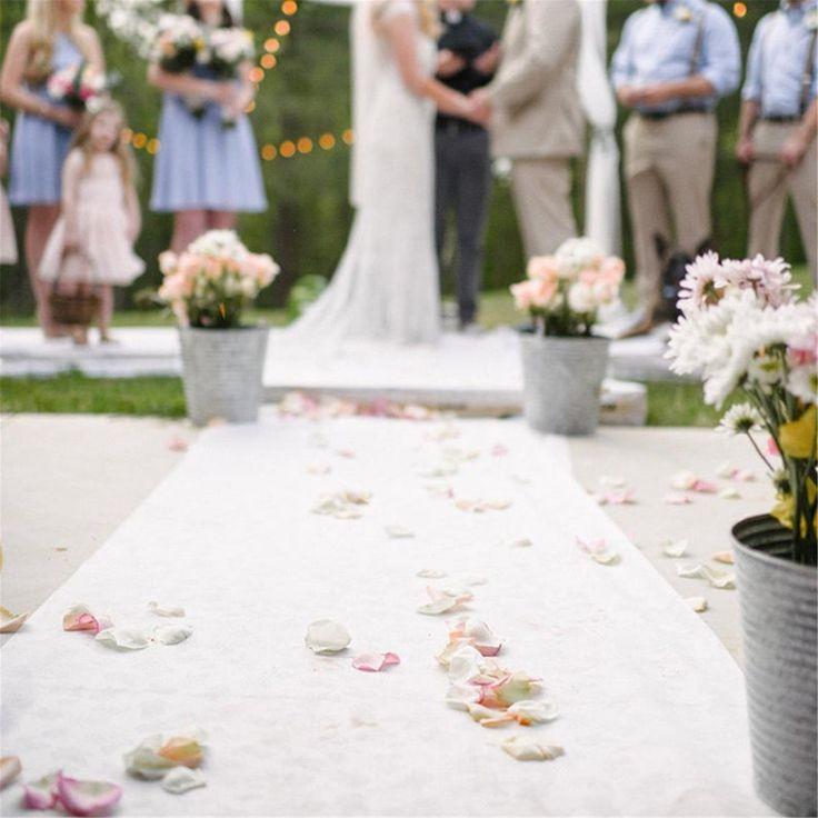 16'/40'ft Wedding Aisle Runner White Carpet Rugs Wedding