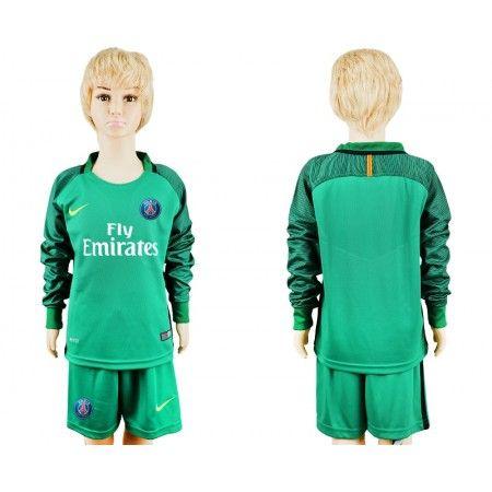 #PSG Trøje Børn 16-17 Grøn målmand Trøje Lange ærmer.199,62KR.shirtshopservice@gmail.com