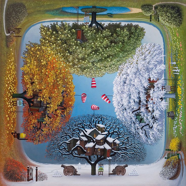 Jacek Yerka - Apple calendar