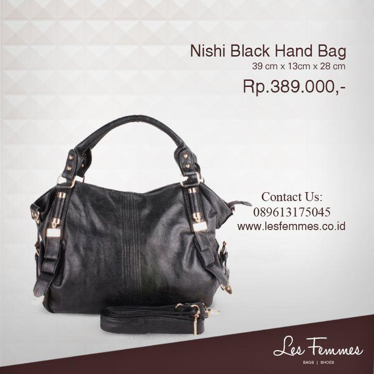 Nishi Black Hand Bag 389,000 IDR #Fashion #Woman #bag shop now on http://www.lesfemmes.co.id/hand-bags/nishi-black-hand-bag