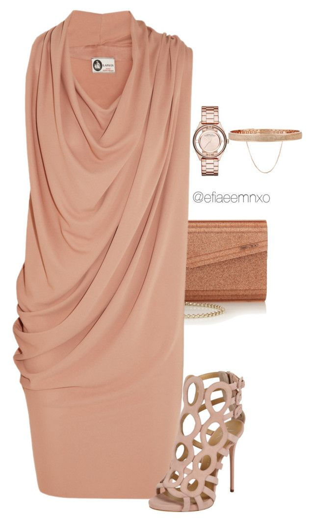 """Draped"" by efiaeemnxo ❤ liked on Polyvore featuring Jimmy Choo, Lanvin, Giuseppe Zanotti, Marc by Marc Jacobs and Eddie Borgo"