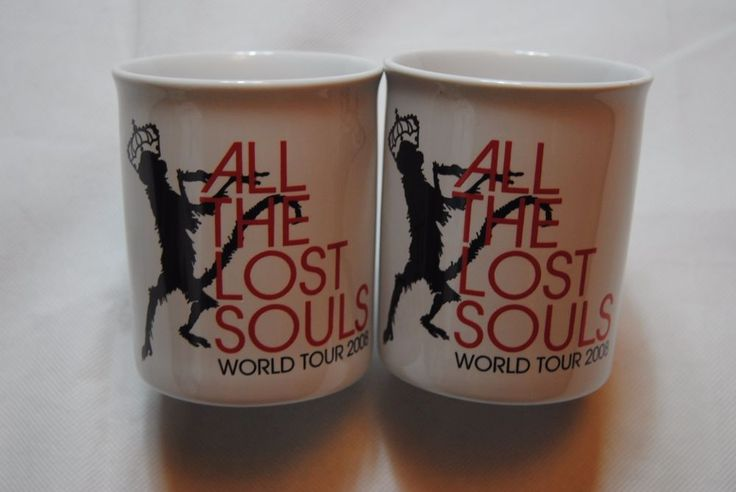 JAMES BLUNT ALL THE LOST SOULS TOUR 2008 MUG CUP x 2 TEA COFFEE NEW OFFICIAL