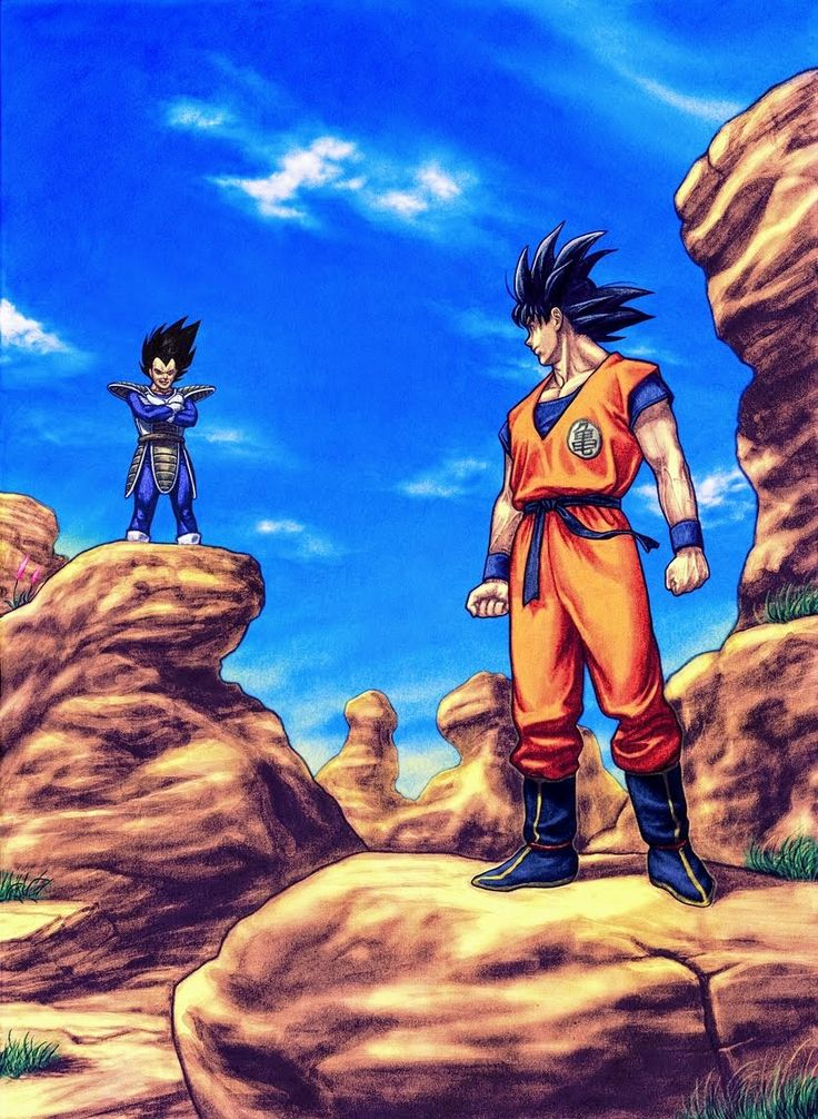 Dragon Ball - Son Goku VS Vegeta #GG #anime