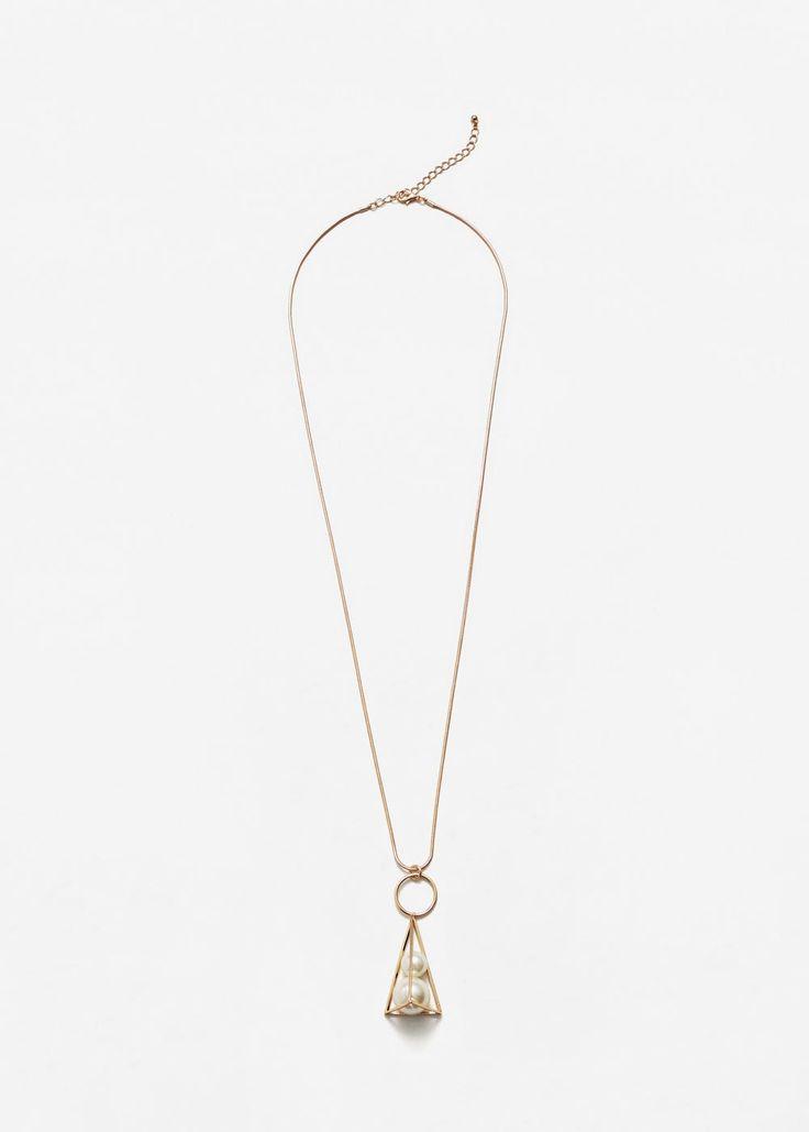 Colar de contas geométrico (ouro) MANGO (12,99€)