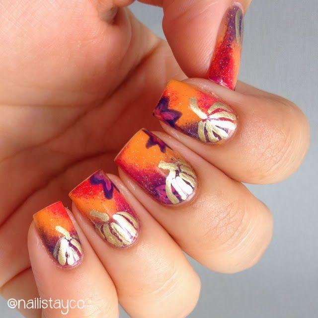 Mejores 32 imágenes de Halloween Nails en Pinterest | Uñas de ...