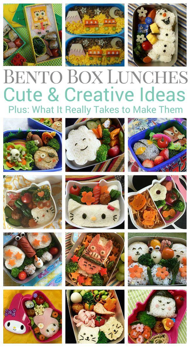 Bento Box Lunches - Cute and Creative Bento Box Ideas
