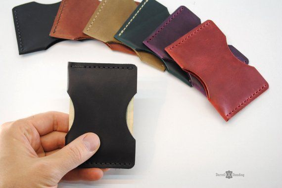 Leather card holder, Card case, Front pocket leather card wallet, Men credit card holder, Women card holder, Small gifts in bulk