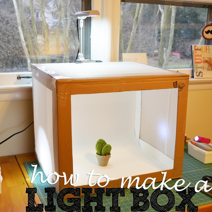 How To Make A Light Box from {Sewing Barefoot} http://sewingbarefoot.blogspot.com/2013/01/light-box.html