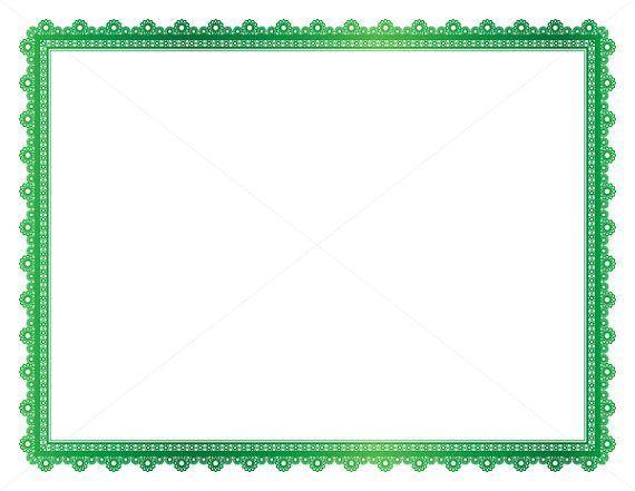 Metallic Green Decorative Frame, Page Border, Digital Frame, Border Paper, Digital Page Border, Page Frame, Vintage Frame, Certificate Frame.