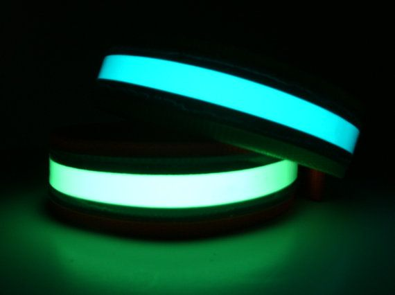 Glow-in-the-Dark Reflective Dog Collars make it safe for you and your dog to go for a walk at night.