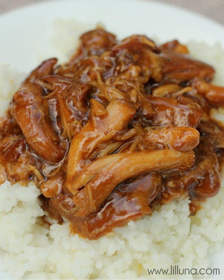 Crock Pot Teriyaki Chicken Recipe on { lilluna.com }