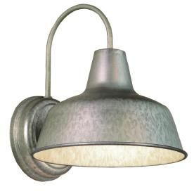 Portfolio�Ellicott 13-1/8-in Galvanized Dark Sky Outdoor Wall Light : to use in upstairs bathroom, one on each wall up fairly high,one over tub/ shower, one over nearer to toilet, so on opposite sides of the BR as well as opposite ends.