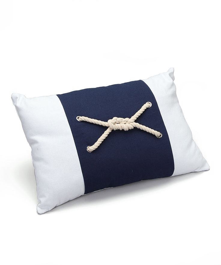 13.99-Blue Nautical Knot Pillow | zulily /  16.5 L X 3D X 11 W