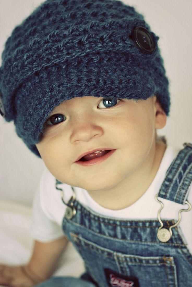 Toddler Boy Newsboy Beanie Crochet - 2014 Winter Beanies for Girls    #crochet #pattern #knitting