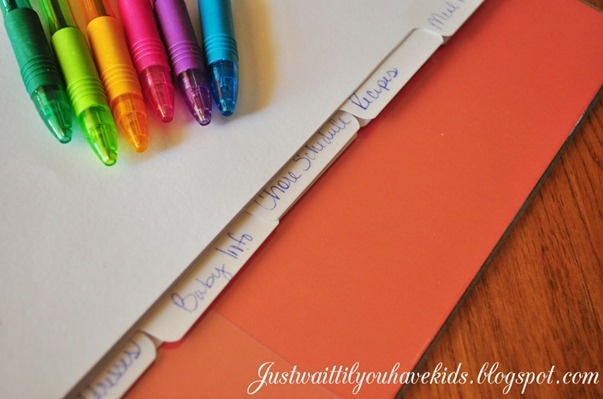 Home Organization Notebook