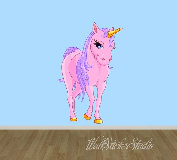 Unicorn Wall Decal Fabric Wall Decal Wall by WallStickerStudio