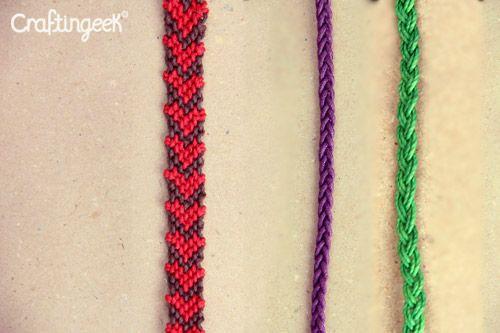 Craftingeek tipos de hilo para hacer pulseras diy for Tipos de pulseras